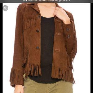 Nili Lotan suede fringe jacket